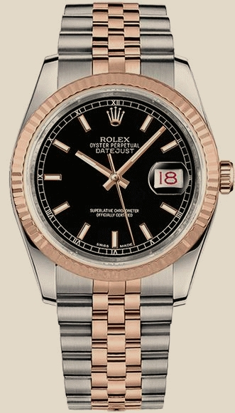 Швейцарские часы Rolex 36mm Steel and Everose Gold