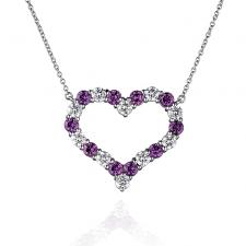 Tiffany & Co DIAMOND & PINK SAPPHIRE HEART PENDANT