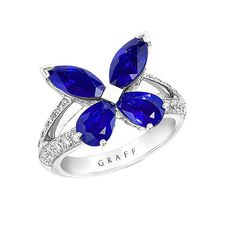 GRAFF CLASSIC SAPPHIRE BUTTERFLY RING