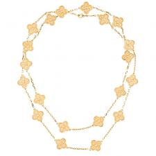 Van Cleef & Arpels. VINTAGE ALHAMBRA LONG NECKLACE, 20 MOTIFS