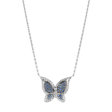 Chopard BUTTERFLY WHITE GOLD SAPPHIRE PENDANT