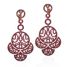Jacob & Co LACE, COLLECTION EARRINGS. COGNAC DIAMONDS