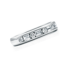 Tiffany & Co CHANNEL-SET BAND RING