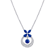 GRAFF CLASSIC SAPPHIRE BUTTERFLY PENDANT