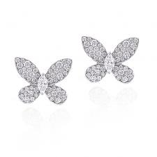 GRAFF DIAMOND PAVE BUTTERFLY EARRINGS