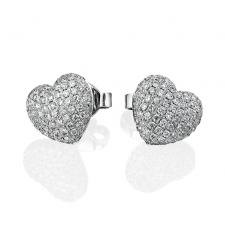 RalfDiamonds DIAMOND PAVE HEART EARRINGS