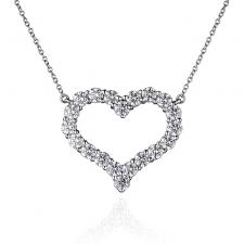 Tiffany & Co DIAMOND HEART PENDANT, LARGE SIZE