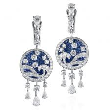 GRAFF DIAMOND & SAPPHIRE WAVE EARRINGS