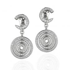 Bvlgari FULL DIAMOND ASTRALE DROP EARRINGS