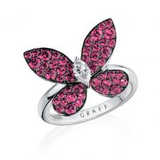 GRAFF PAVE BUTTERFLY RING