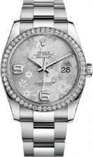 Rolex / Datejust / 116244 Silver Floral