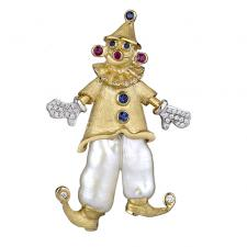 Yvel CLOWN BROOCH