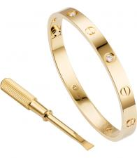 Cartier LOVE BRACELET, 4 DIAMONDS