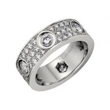 Cartier LOVE RING, DIAMOND-PAVED