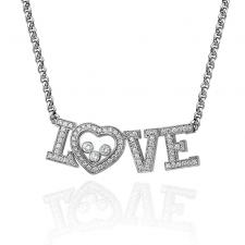 Chopard HAPPY DIAMONDS LOVE NECKLACE