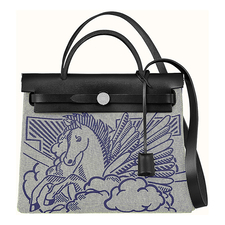 Hermes Herbag Zip 31 Pegasus Pop PM Toile / Vache Hunter LEATER, Special Edition