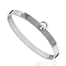 HERMES COLLIER DE CHIEN BRACELET. SMALL MODEL