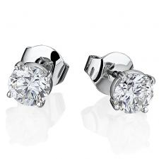 GRAFF DIAMOND STUD EARRINGS 1.01 CT F/VS2 - 1.00 CT F/VS1
