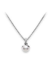Mikimoto  TWIST PENDANT - WHITE GOLD