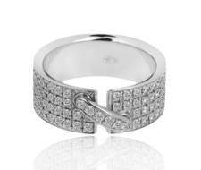 Chaumet LIENS DIAMONDS PAVE WHITE GOLD RING