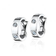Cartier LOVE EARRINGS, 3 DIAMONDS