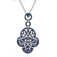 Jacob & Co LACE PENDANT, BLUE SAPPHIRES, DIAMONDS