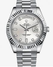 Rolex / Oyster / 218239 Silver Diamonds
