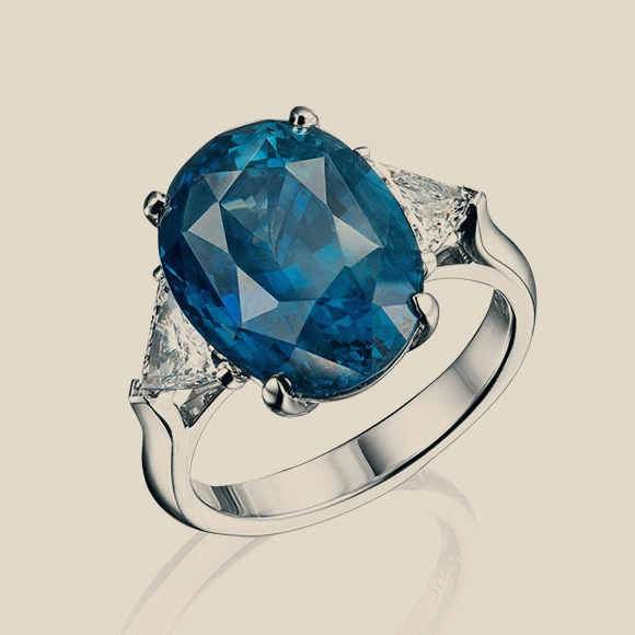 КОЛЬЦО NO NAME - 10.68 CT VIVID BLUE (ROYAL BLUE)