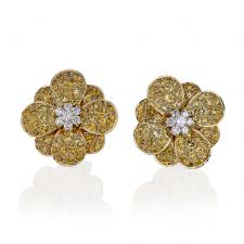Van Cleef & Arpels. COSMOS,YELLOW SAPPHIRE, DIAMONDS