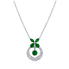 GRAFF CLASSIC EMERALD BUTTERFLY PENDANT