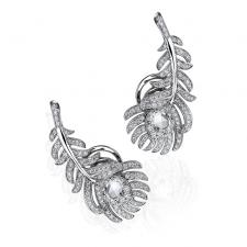 Boucheron PLUME DE PAON EARRINGS