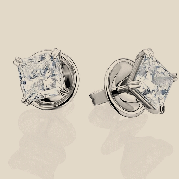 СЕРЬГИ NO NAME - 2.01 CT G/VS2 - 2.01 CT G/VS1