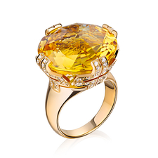 Bvlgari PARENTESI RING, CITRINE, DIAMONDS
