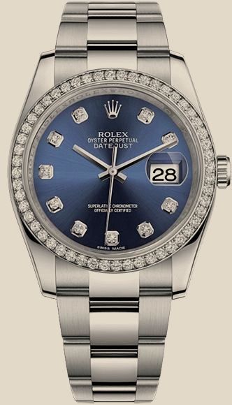 Купить ROLEX Datejust 36 mm, Oystersteel, white gold and diamonds