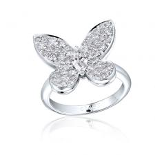 GRAFF DIAMOND PAVE BUTTERFLY RING