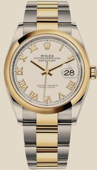 Швейцарские часы Rolex 36 mm, Oystersteel and yellow gold