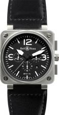 Bell & Ross / BR Instrument / BR 01-94 BlackDial Leather