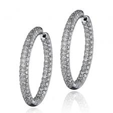 Серьги DIAMOND HOOP EARRINGS