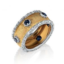 Buccellati Sapphires Gold Band