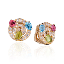 Bvlgari ASTRALE ANELLI COLOR COLLECTION EARRINGS