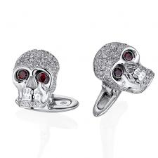 GAVELLO DIAMOND SKULL CUFFLINKS