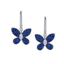 GRAFF PAVE BUTTERFLY, SAPPHIRE, WHITE GOLD