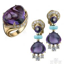 Bvlgari MEDITERRANEAN EDEN EARRINGS, SASSI RING
