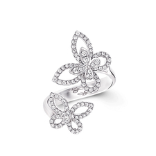 GRAFF DOUBLE BUTTERFLY SILHOUETTE RING