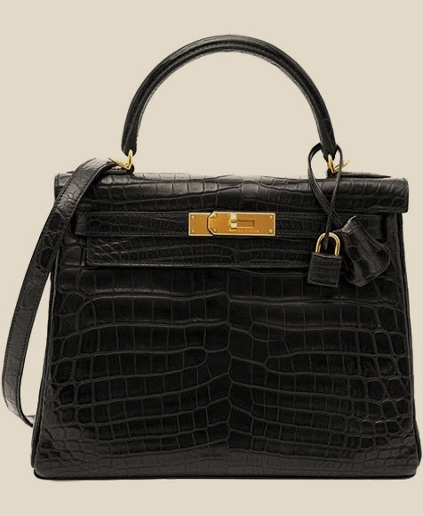 Hermes - Kelly 32 matte Croco