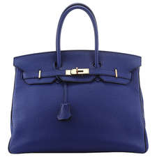 Hermes SPECIAL ORDER 35 Bleu Electric Black