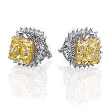 СЕРЬГИ NO NAME С БРИЛЛИАНТАМИ 3.01 CT FANCY YELLOW/VS2 -  3.01 CT FANCY YELLOW/VS1