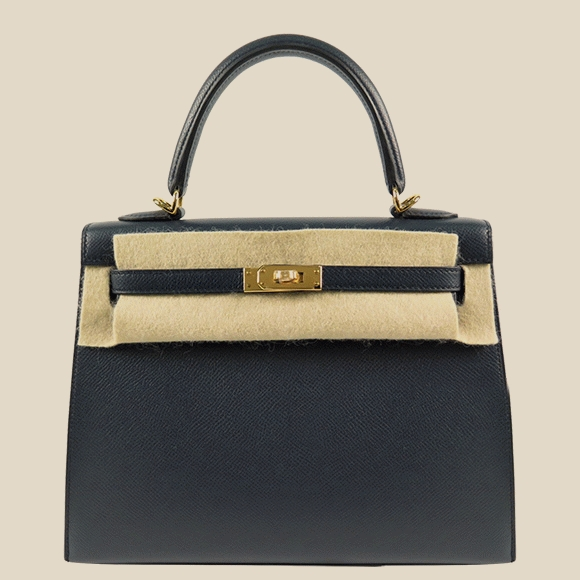 Hermes - Kelly 25 Sellier Blue