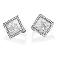 Chopard HAPPY SPIRIT SQUARE EARRINGS
