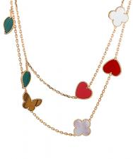 Van Cleef & Arpels. LUCKY ALHAMBRA LONG NECKLACE, 12 MOTIFS